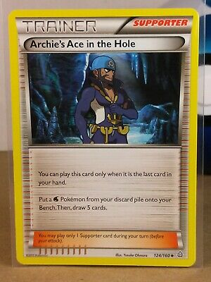 Archie's Ace in the Hole  124/160 X&Y: Primal Clash Uncommon NM/Mint Pokemon