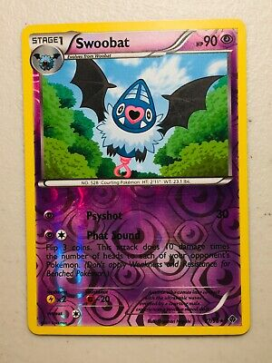Pokemon Card BW Emerging Powers Reverse Holo Swoobat 37/98. FREE SHIPPING!
