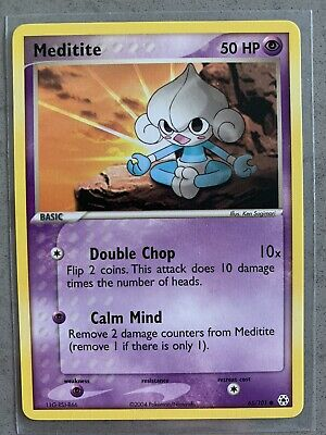 Pokemon EX Hidden Legends Meditite 65/101 NM Common Card 2004