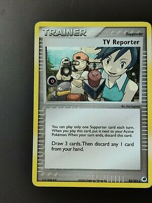 Pokemon Dragon Frontiers Set Trainer Card TV Reporter