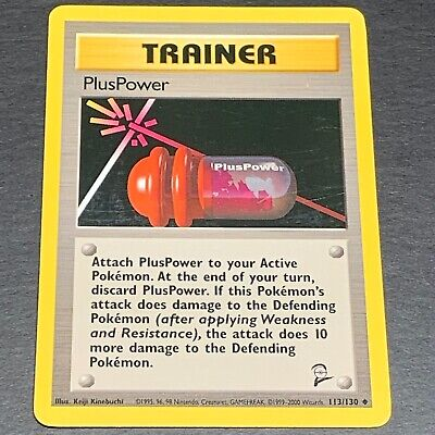 Pokemon Base Set 2 UN-COMMON PlusPower 113/130 - Near Mint (NM) Condition