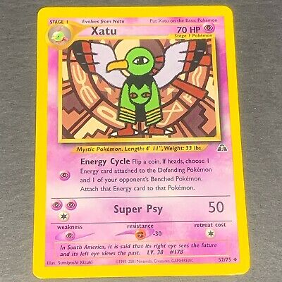 Pokemon Neo Discovery Set UN-COMMON Xatu 52/75 - Near Mint (NM) Condition