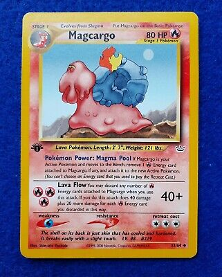 *NH* Card Pokemon - Magcargo 33/64 - 1° Edizione ENG cards Neo Revelation