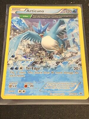Articuno 17/108 -  Full Art RARE Roaring Skies Pokemon Card