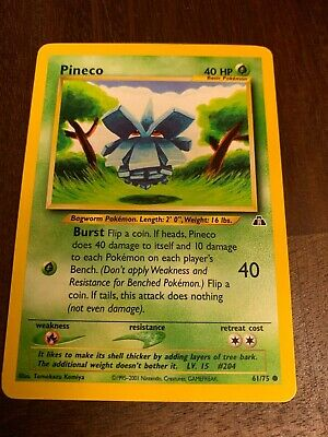 Pineco Neo Discovery Unlimited Pokemon Card 61/75