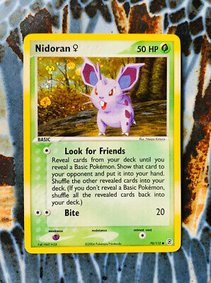 Nidoran Holographic 2004 Pokémon EX FireRed & LeafGreen #70 Pokemon Card