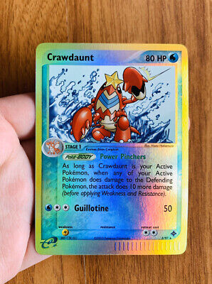 Crawdaunt Reverse Foil Holographic 2003 Pokemon EX Dragon  3/97 Pokemon Card