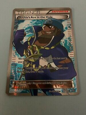 POKEMON Archie's Ace in the Hole 157/160 - XY Primal Clash Ultra Rare Full Art