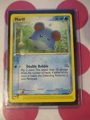 Pokemon Marill 68/100 Ex Sandstorm Common Misprint No Retreat Cost NM