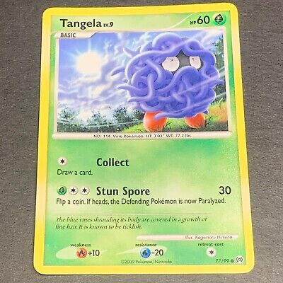 Pokemon Platinum Arceus Set COMMON Tangela 77/99 - Near Mint (NM) Condition