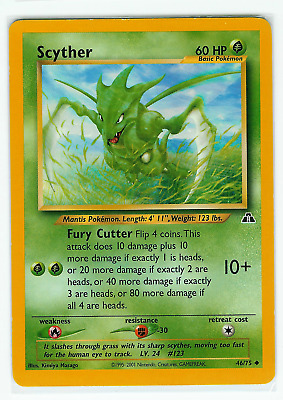 Pokemon Scyther # 46/75 - Neo Discovery Unlimited - Condition: NM-LP