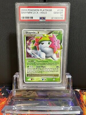 Shaymin Lv.X PSA 10 126/127 **POP 6** Platinum 2009 Pokemon Card