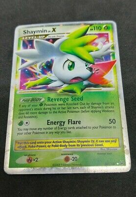 Shaymin LV.X  127/127 Ultra Rare NM/LP Platinum Pokemon Card Holo Holographic #1