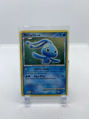 Manaphy Holo Pokemon Card Diamond and Pearl Trainer Kit 2007 4/12 LP