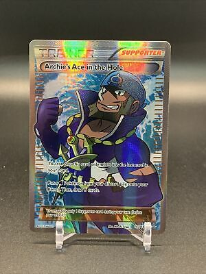 Pokemon card Primal Clash Full Art Archie's Ace in the Hole 157/160 near mint