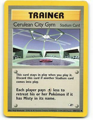108/132   Cerulean City Gym   Gym Heroes   Pokemon Card   Excellent