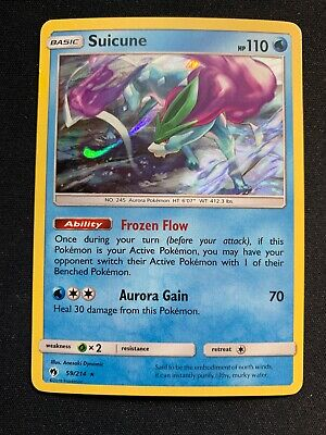 Pokemon - Suicune - Lost Thunder 59/214 Holo Rare, Lightly Played