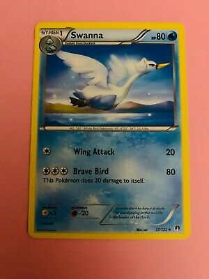 Pokemon Breakpoint Swanna 37/122 Uncommon - Excellent Condition