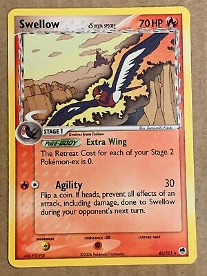 Pokemon Card Ex Dragon Frontiers Swellow 40/101.