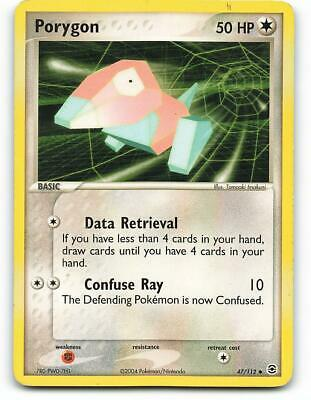 47/112   Porygon   EX FireRed LeafGreen   Pokemon Card   Light Played