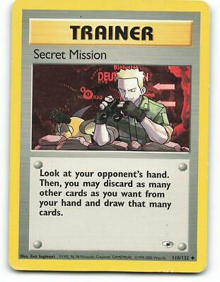 118/132   Secret Mission   Gym Heroes   Pokemon Card   Played
