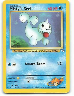 88/132   Misty's Seel   Gym Heroes   Pokemon Card   Excellent