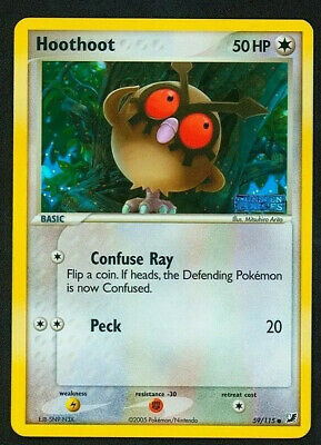 2005 Pokemon EX Unseen Forces 59/115 Hoothoot Reverse Foil NM
