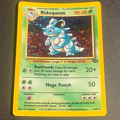 Pokemon Jungle Set HOLOGRAPHIC Nidoqueen 7/64 - Near Mint (NM) Condition