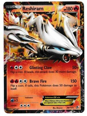 Reshiram Legendary Treasures 29/113 Pokemon TCG Heavily Played