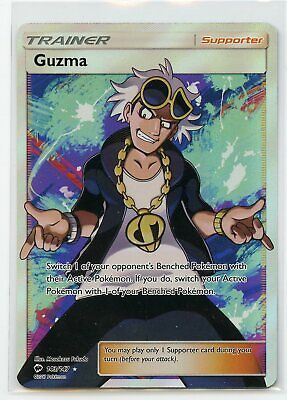 Pokemon TCG - Burning Shadows Guzma Full Art Rare Holofoil 143/147