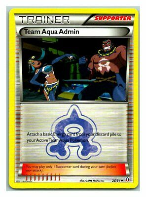 Team Aqua Admin 25/34 Double Crisis Pokemon Card LP Condition
