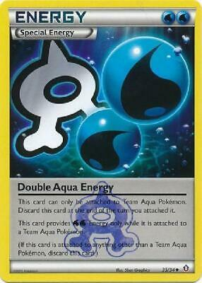 Double Aqua Energy - 33/34 - Uncommon NM Pokemon Double Crisis 2B3