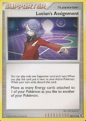 Lucian's Assignment - 92/111 - Uncommon NM Rising Rivals Pokemon 2B3