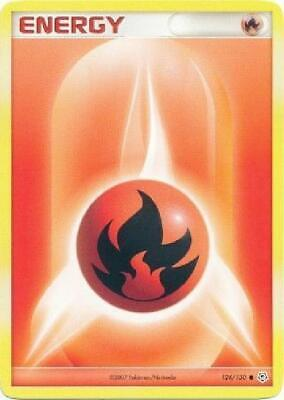 Fire Energy - 124/130 - Common NM Diamond & Pearl Pokemon 2B3