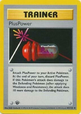 PlusPower - 84/102 - Uncommon 1st Edition Near Mint Base Set Pokemon 2B3