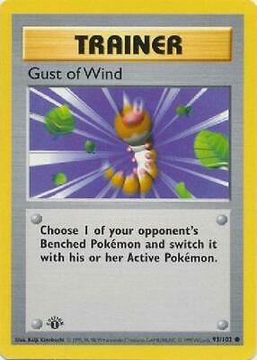 Gust of Wind - 93/102 - Common 1st Edition Near Mint Base Set Pokemon 2B3