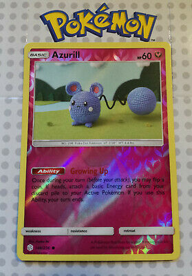 Pokemon card Azurill 146/236 HOLO Fairy Mint Cosmic Eclipse