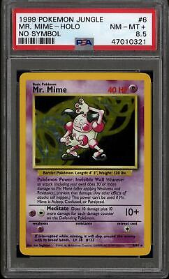 Pokemon Jungle No Symbol Mr. Mime 6/64 PSA 8.5