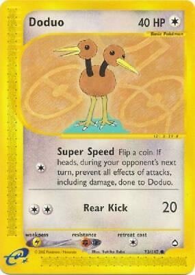 Doduo -  73/147  - Common NM Aquapolis Pokemon 2B3
