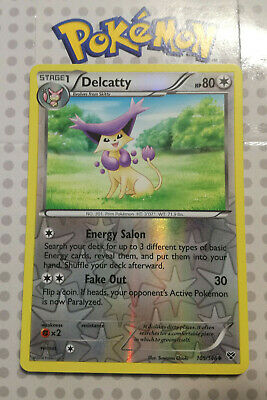 Pokemon card Delcatty 105/146 Reverse HOLO Uncommon Colourless XY Base Mint
