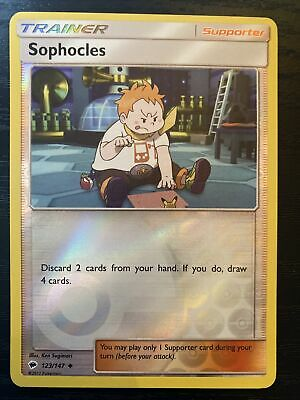 Sophocles 123/147 Reverse Holo ~ Pokemon S&M Burning Shadows ~ Pack Fresh