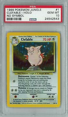 Pokemon Jungle No Symbol Clefable 1/64 PSA 10 GEM MINT