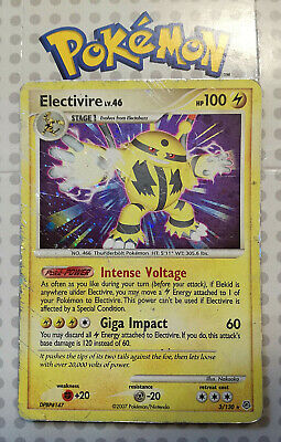 Pokemon card Electivire 3/130 HOLO RARE Stage 1 Lightning Diamond & Pearl Used