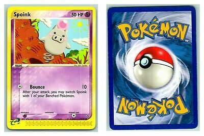 Spoink 73/97 EX Dragon Pokemon Card LP Cond