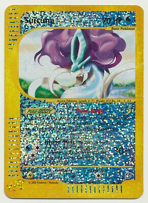 Pokemon Aquapolis Box Topper Reverse Holo JUMBO OVERSIZED Suicune 8/12 DAMAGED!!