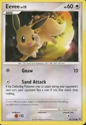 Eevee - 63/100 - Common NM Majestic Dawn Pokemon 2B3
