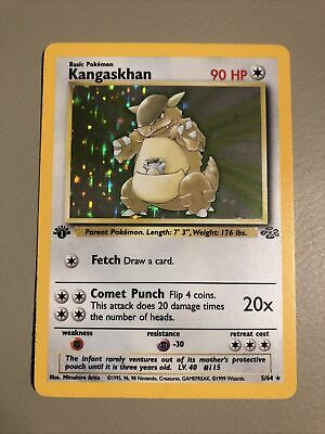 1st Edition Kangaskhan Jungle Holo 5/64 Pokemon LP