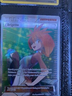 FULL ART Brigette 161/162 Pokemon XY Breakthrough Holo