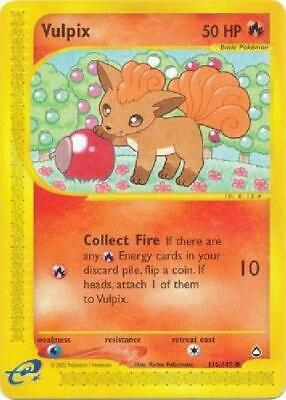 Vulpix -  116/147  - Common NM Aquapolis Pokemon