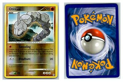Onix 92/130 REVERSE HOLO Diamond & Pearl Pokemon Card P Condition